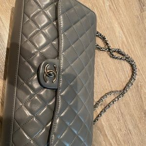 Gray leather Chanel